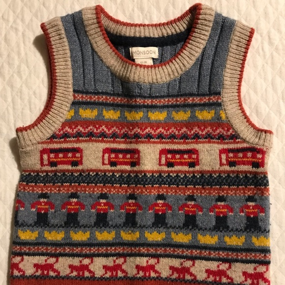 Monsoon Other - Monsoon, Boy's Sweater Vest. Size 12-18 Months